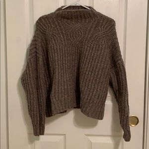 Aerie Cable Knit Mock Turtle Neck Sweater